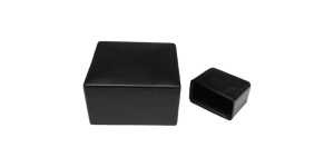 Cappucci in plastica per tubi quadrati e rettangolari