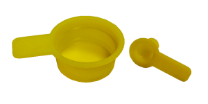 Sottotappi conici gialli con linguetta