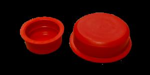 Sottotappi rossi cilindrici con battuta