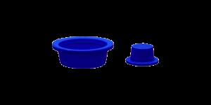 Tappi conici blu