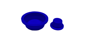 Tappi conici blu con flangia larga