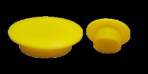 Tappi cilindrici gialli con alette